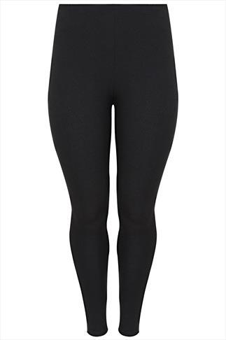 Black Jacquard Jersey Legging
