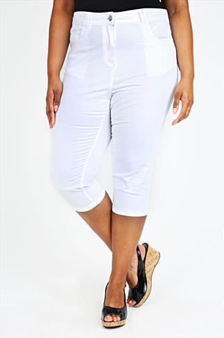White Denim Cropped Jeans