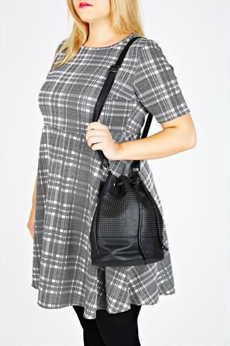 Black Studded Bucket Bag