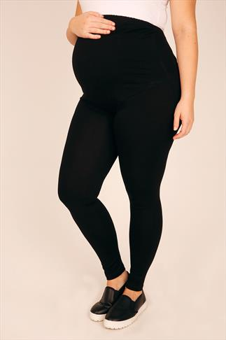 BUMP IT UP MATERNITY  Black Leggings With Control Panel