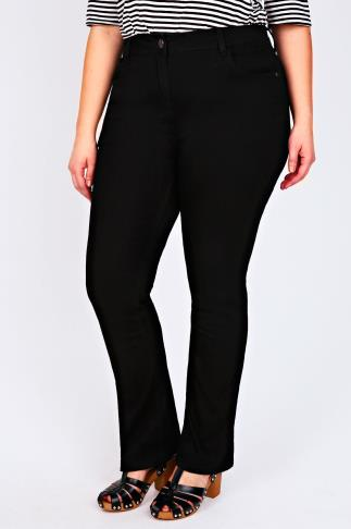 Black Bootcut 5 Pocket Jeans