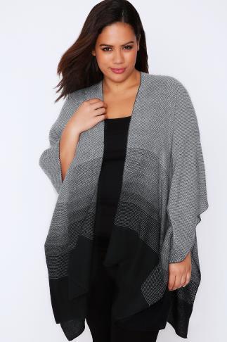 Black & Grey Ombre Woven Wrap