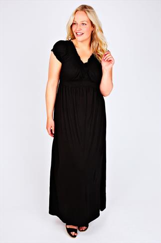 Black Gypsy Style Maxi Dress