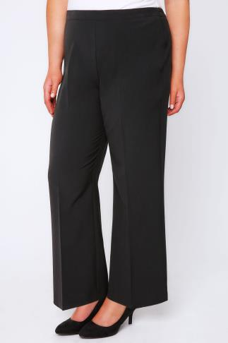 Black Pablo Trouser With Elasticated Back