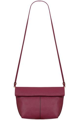 Black & Purple Reversible Roll Top Bag With Detachable Straps