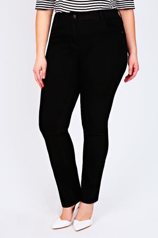 Black Straight Leg 5 Pocket Jeans