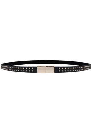 Black Studded Elasticated Waist Belt