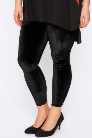 Black Velour Leggings