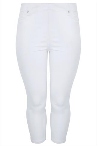White Denim Cropped Jeggings