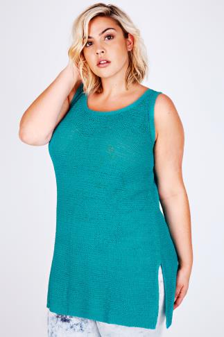 Jade Knitted Longline Sleeveless Top