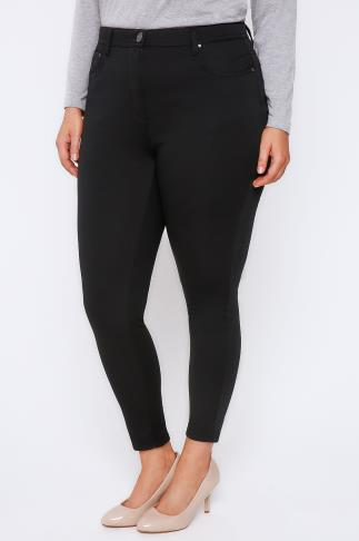 Black Stretch Skinny Jeggings with 5 Pockets