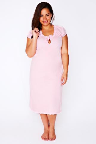 Pale Pink Gypsy Style Night Dress