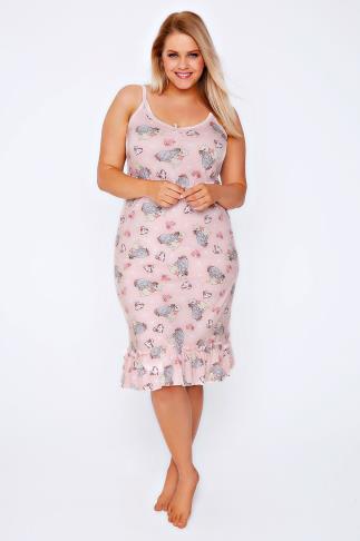 Pink Winnie & Eeyore Disney Print  Nightdress