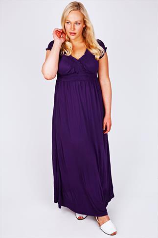 Purple Gypsy Style Maxi Dress
