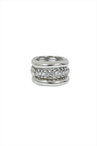 Silver 3 Pack Of Stack Rings