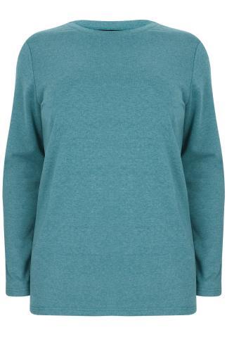 Turquoise Long Sleeve Sweat Top
