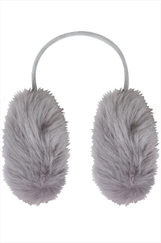 Grey Faux Fur Ear Muffs