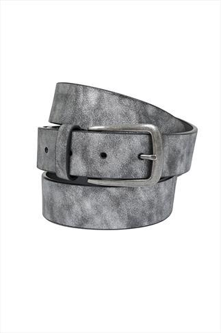 Silver Metallic PU Jean Belt