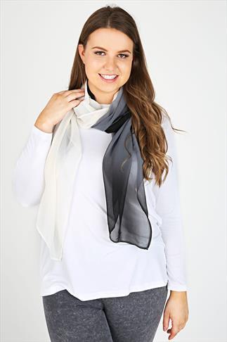 Black & White Ombre Scarf
