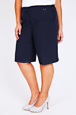 Navy Tailored Shorts