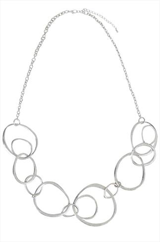 Silver Circle Feature Necklace