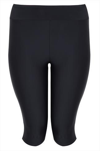 Black Stretch Swim Shorts