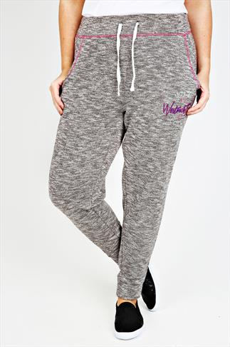 Westrock Bay  Charcoal Marl Joggers With Elasticated Waist