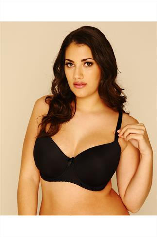 Best-Selling Black Moulded T-shirt Bra