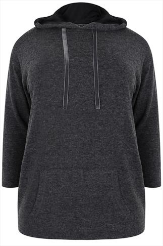 Charcoal Marl Pullover Hoodie
