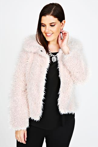 Cream Faux Fur Soft Cropped Coat