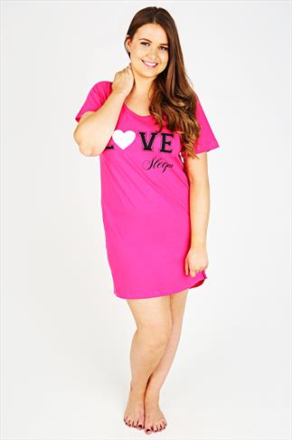 "Hot Pink ""Love Sleep"" Nightdress"