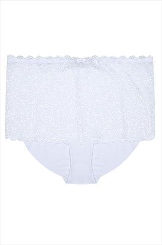 White Shine Lace Shorts
