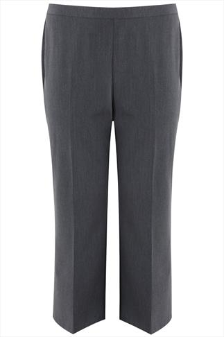 Grey Pablo Trouser With Elasticated Back