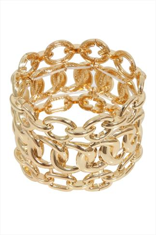 Gold Chunky Chain Stretch Bracelet
