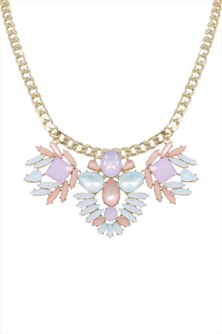 Pastel Statement Jewelled Necklace