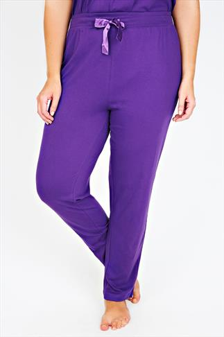 Purple Harem Full Length Pyjama Bottoms