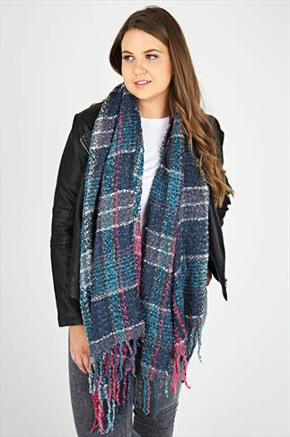 Multi Checked Blanket Scarf