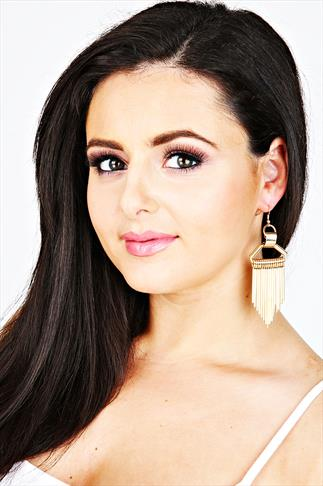 Gold Chunky Fringe Style Earrings