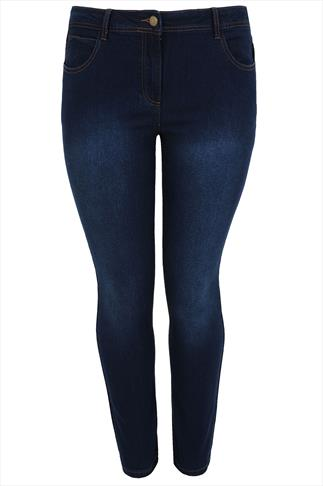 Indigo Straight Leg 5 Pocket Denim Jeans