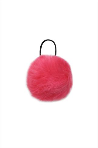 Bright Pink PomPom Hair Bobble