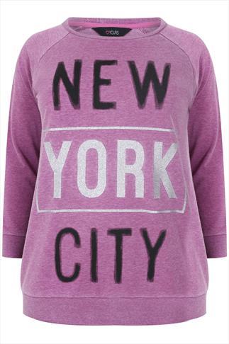 Pink New York City Burnout Jumper