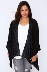 Black Polka Dot Lightweight Woven Wrap