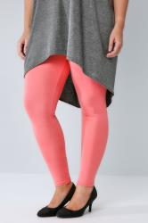 Coral Viscose Elastane Leggings