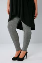 Dark Grey Marl Viscose Elastane Leggings