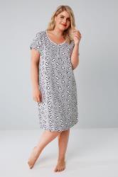Grey & Multi Moo Cow Print Nightdress