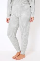 Grey & White Stripe Pyjama Bottoms