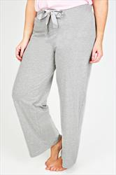Grey Basic Cotton Pyjama Trousers