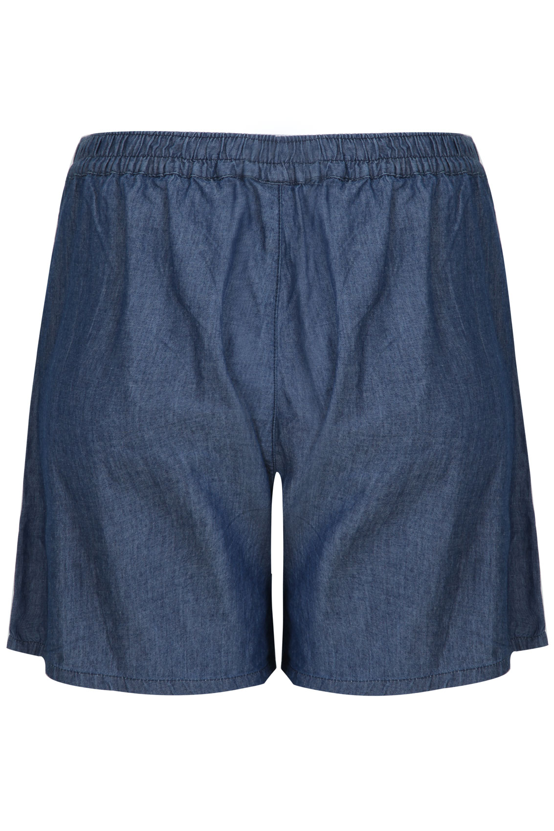 Mid blue chambray denim shorts plus size 14 16 18 20 22 24 for Chambray jeans