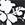 Black & White Floral Print Panelled Peplum Longline Top