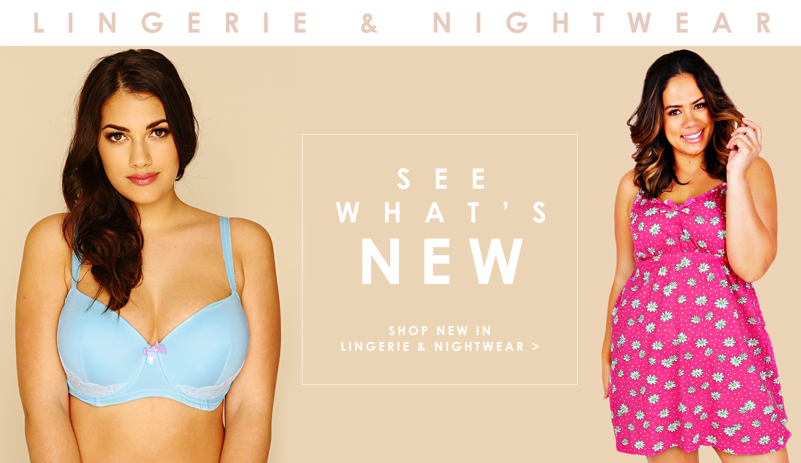 Shop New In Lingerie & Nightwear